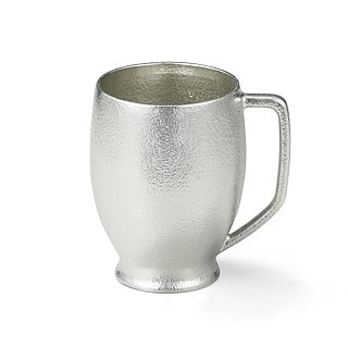 Pure tin round beer mug