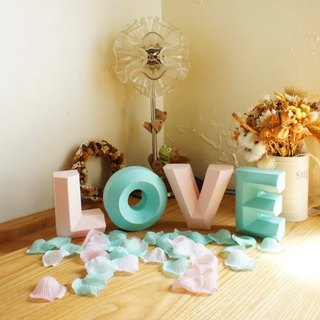 Wedding props / shooting props / LOVE / three-dimensional character wealthy / TIFFANY color