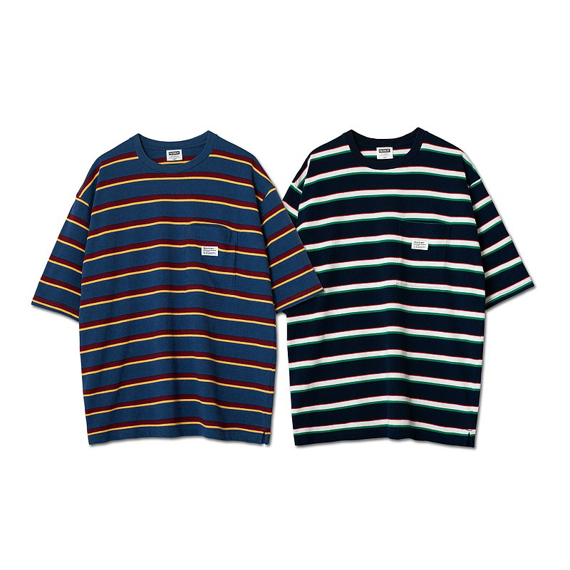 Filter017 Crealive Dept. Label-woven stripe Tee