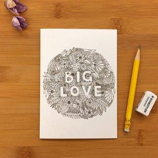 BIG LOVE Universal card hand-painted illustration of environmentally friendly paper imported cards 118 UK