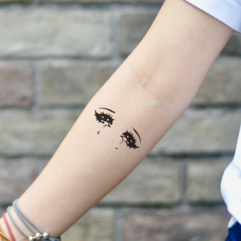 OhMyTat 動漫卡通眼睛 Anime Eyes 刺青圖案紋身貼紙 (2 張)