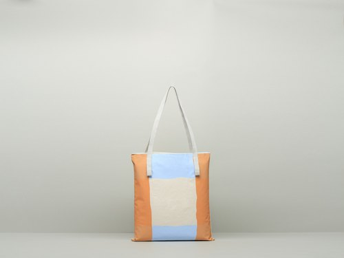 JainJain medium chic bag / green shopping bag # 20 waterproof paint / orange blue