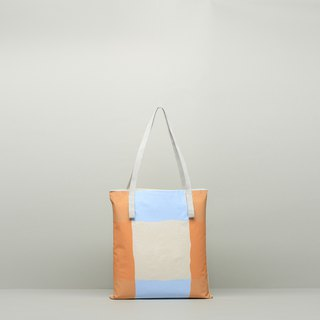 JainJain Medium Spritz Bag/Retro Shopping Bag #20 Waterproof Paint/Orange Blue