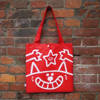 Good pouch _ red white cat