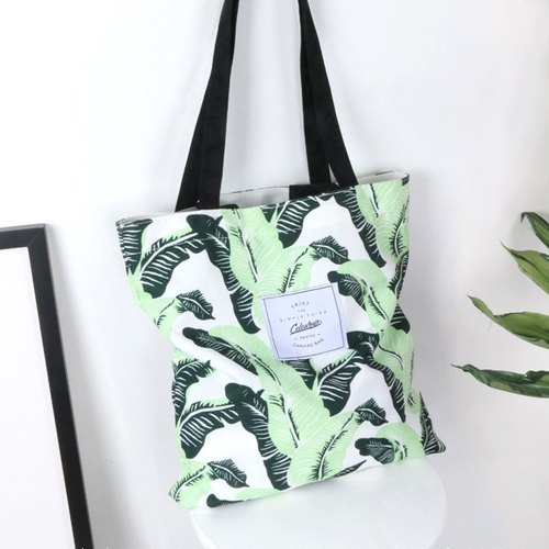 Color-Up shoulder / bag / canvas bag * banana leaves