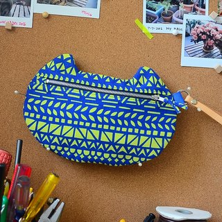 zippy cat - multi-functional pouch - African drawings