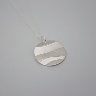 LAMINATED   necklace - sterling silver