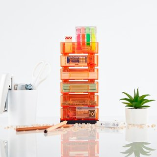 Magnetic Office Supplies Organizer - 6 Tier - Orange