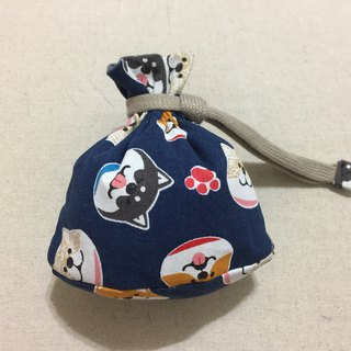 Mini-bundle pocket with bag bottom - Shiba Inu