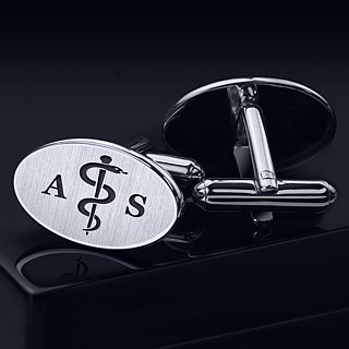 Medical Cufflinks Sterling Silver – Personalized Cufflinks – Doctor Cufflinks
