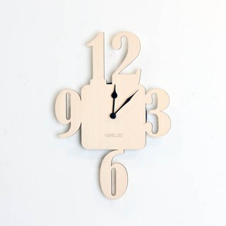 LOO wooden mute wall clock | number