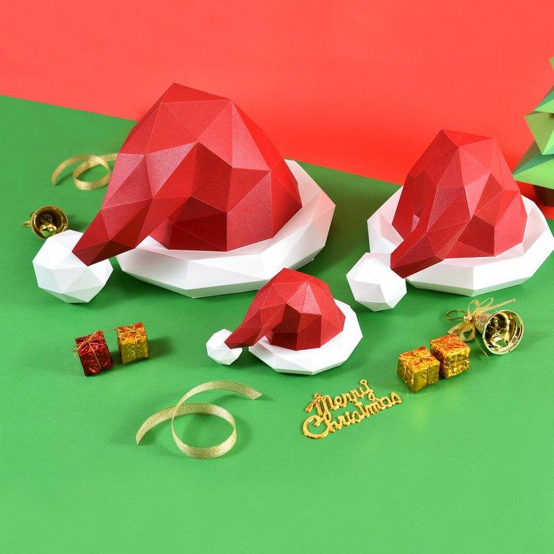 3D紙模型-做到好成品-節日系列-雪球聖誕帽-聖誕節扮裝小物