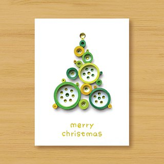 Handmade Roll Paper Christmas Card _ Blessings from afar ‧ Dream Bubble Christmas Tree _L