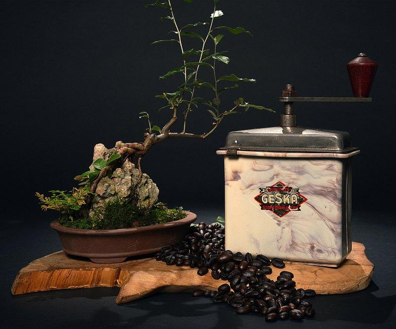 1950東德Geska Stahlmahlwerk毛刺磨手搖咖啡磨豆機/復古老件
