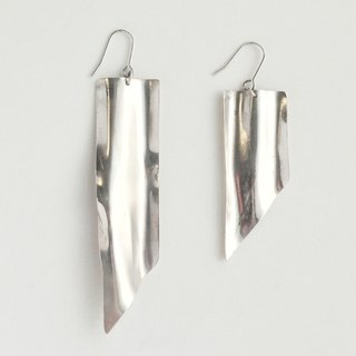 [Orders] production Earrings / Silver drape plate & Ashinmetoridezain