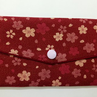 Lucky double red envelope bag / passbook storage bag (05 red cherry)