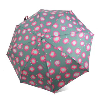 【Taiwan's Cultural Rain's talk】 Ye Yan Ye flowers anti-UV automatic folding open umbrella