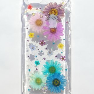 Pressed flowers phone case, iphone 6 plus, iPhone 7, The rainbow