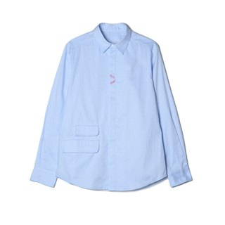 oqLiq - Display in the lost - Heart Shirt (Light Blue)