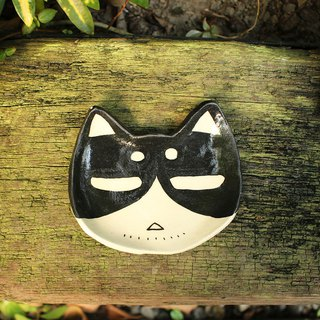 Black and White Cats Pottery - Melancholy Cats