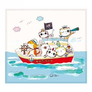 Illustrator Series Cat p - Fat Cat pirates ll Wipes