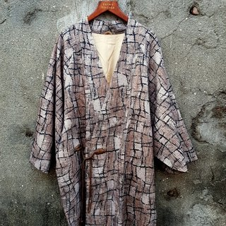Small Tortoise Ge - Irregular Geometric Stone Tattoo Antique Kimono Jacket
