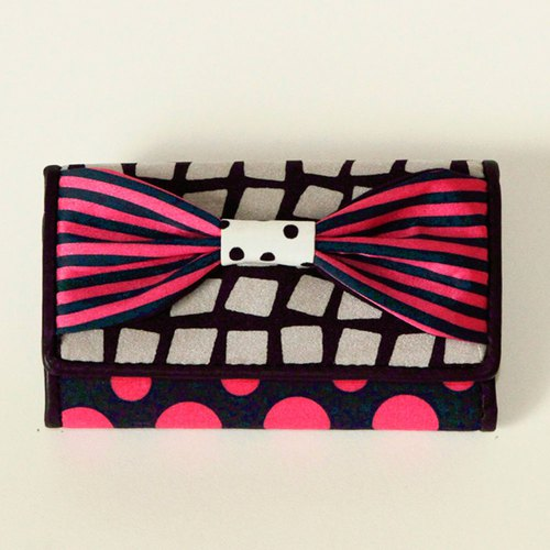 key holder wallet pink ribbon Assistant Director dots borders stripes
