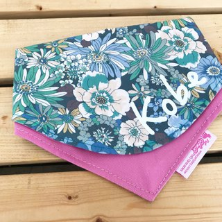 Blue flower Baiyan custom name double-sided triangle scarf