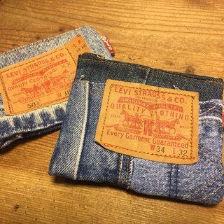 Jeans playing cards coin bag