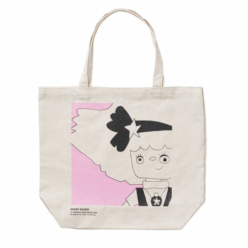[Swimmy Design Lab] Japan Classic Cartoon Series - Magic Girl Minkymomo Pattern TOTE Tote Bag/Canvas Bag/Campus Bag (Pink)