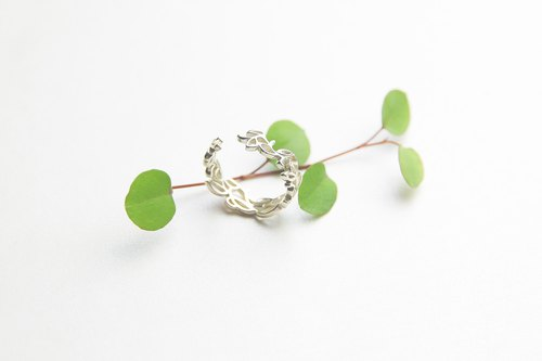 | Ju Nianhe | Original 925 sterling silver hand-painted vine lines open ring