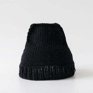 OTB110 ladder type hand-knitted cap - black