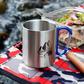 Wilderness grizzly double insulated stainless steel cup deep sea blue