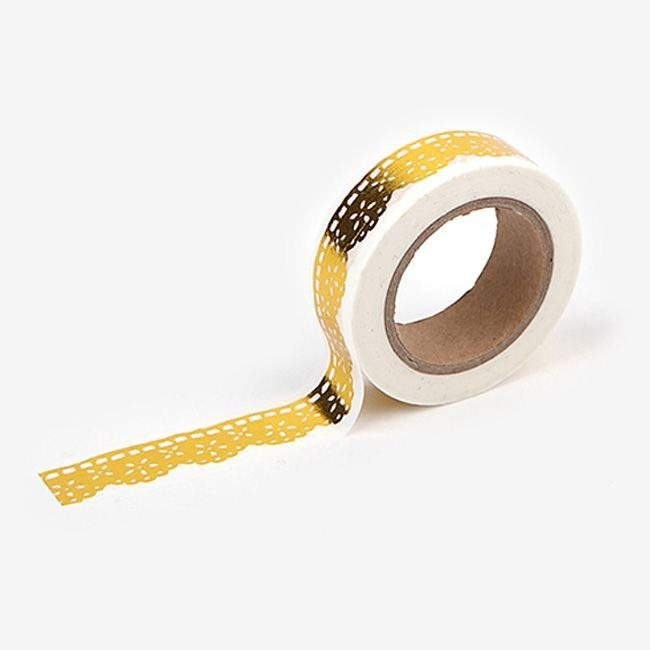 Dailylike Gold and Silver Series - Single Roll of Tape - 49 Gold Lace, E2D26402