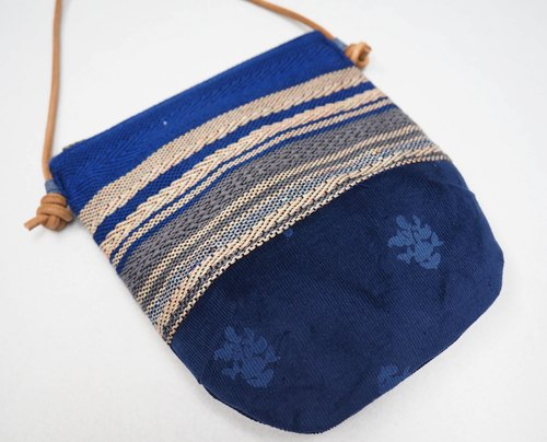 Handwoven Day Bag in Blue