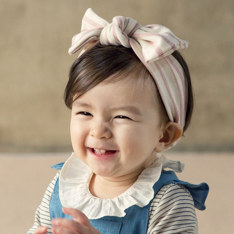 Happy Prince Mali Navy Striped Baby Girl Hairband Made in Korea