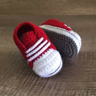 Sporty Toddler Sneaker Stylish Toddler Shoes Red Crochet Baby Booties Footwear