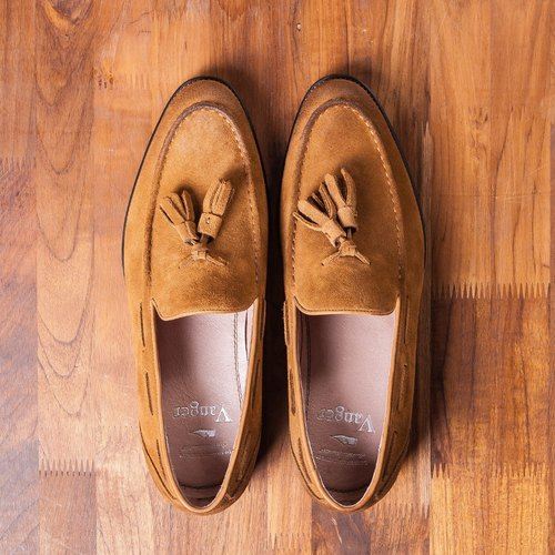 Vanger Elegance Classic Classic gentleman tassel Love shoes Va187 suede brown