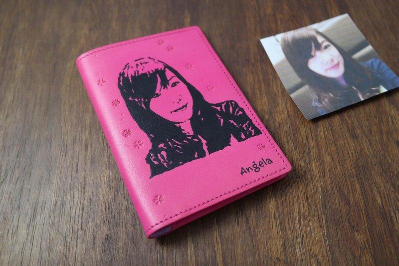 APEE皮手工~拓像護照夾~粉紅