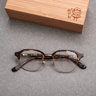 Korea hot versatile eyebrow glasses glasses for men and women 玳瑁 series titanium