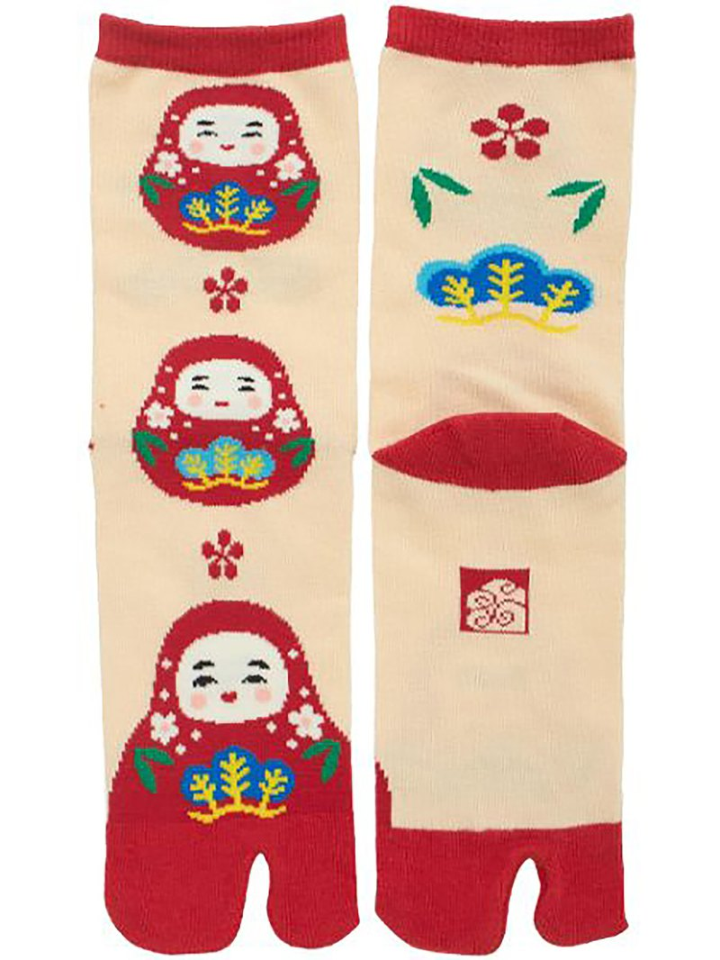 Pre-ordered Kaga Hachiman Tumbler Two Fingered Socks - Medium Length 7JKP5355