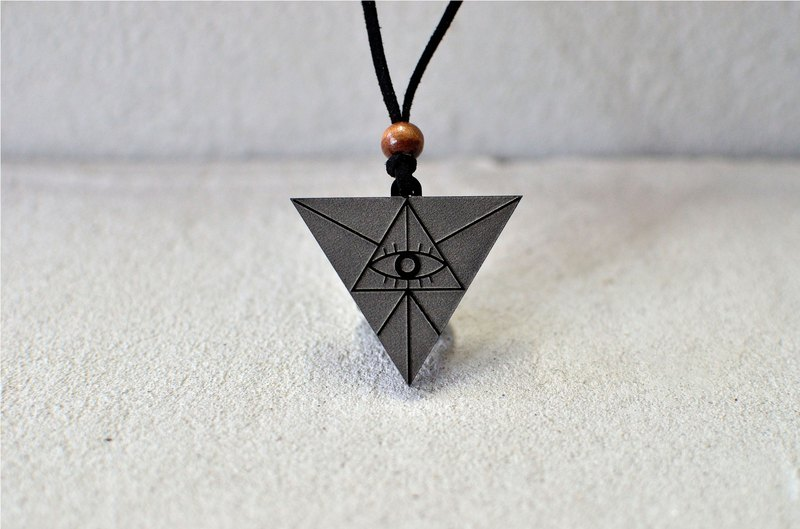 Triangle Geometry - Real Eyes - Acrylic Necklace