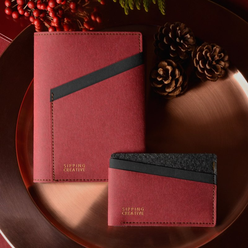【15% off Set】Passport Holder + Credit Card Holder