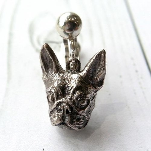 Boston Terrier earrings · silver925 made (one pair) boston terrier Bosuteri Buhi BUHI