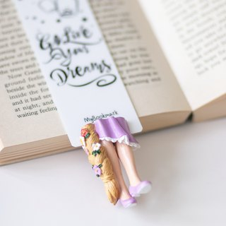 Rapunzel bookmark, gift for girl, tangled fan