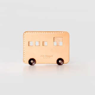 Meng car car vegetable tanned leather original manual card package leather card package leather card package bus card set