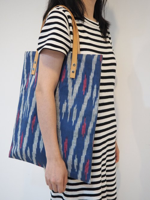 Handwoven Ikat Fabric Tote Bag