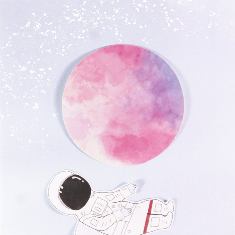 No.08 pink planet moon sticker