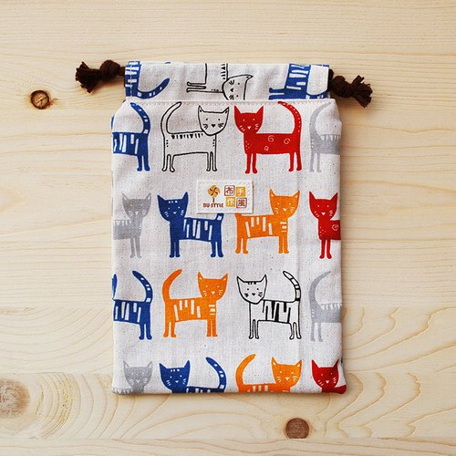 Color Cat Pouch Pocket (medium)