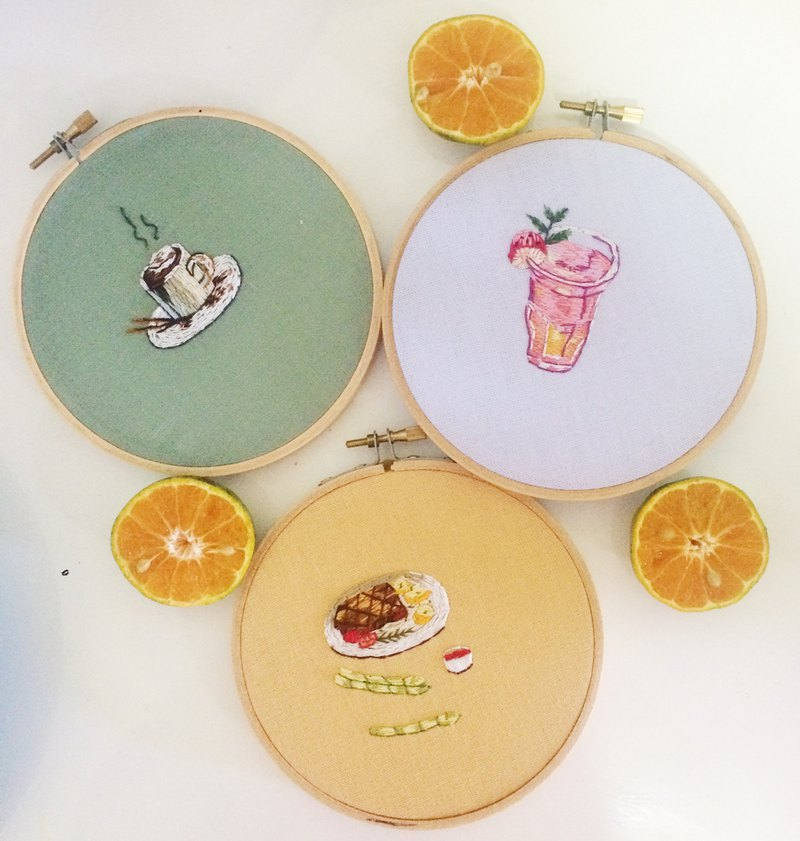 Lunch embroidery